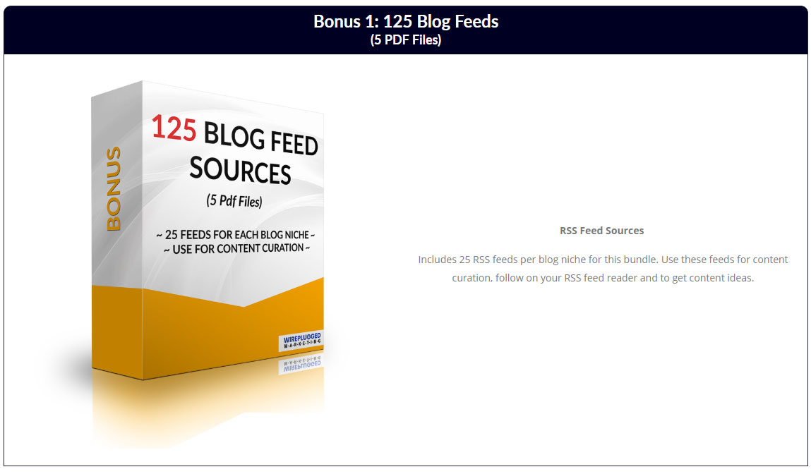 125 Blog Feeds